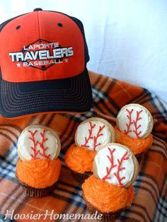 Baseball Cupcakes for the Olympics #TeamUSA