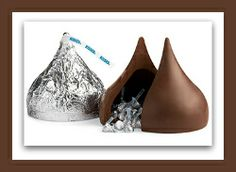 This is a gigantic genuine HERSHEY'S Kiss is actually filled with what else? Standard sized Kisses of course... #candy #kiss #hersheys #giftideas