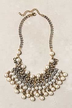 spiked beads bib necklace / anthropologie