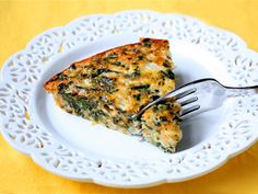 Crustless spinach quiche- a great breakfast idea for Step 1 (neutral)!