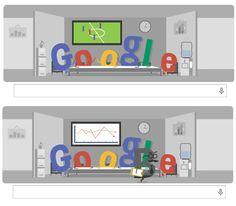 ¡Qué grande #Google! Muy bueno el #Doodle de hoy del Mundial en la oficina
