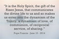 Let´s be gathered in the unity of the Father and the Son and the Holy Spirit! Read more at: www.news.va/en/news/angelus-love-is-at-the-heart-of-the-trinity son, father