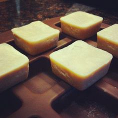 Cacao Butter and Coconut Oil Skin Bars... NO WAX