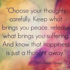 Happiness is just a thought away. xx