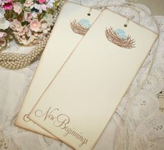 Baby Shower Wish Tree Tags  Bird Nest with by ShabbyPeaDesigns, $9.50