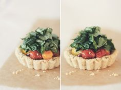 Roasted Tomato & Brie Tartlets with Almond Herb Crust