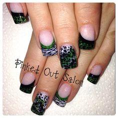 St. Patricks Day nail art!!