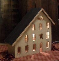lighted salt box house