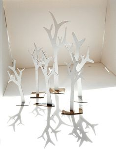 Cardboard trees that are so lovely!