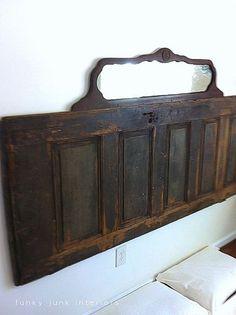 Old door, mirror... perfect prim headboard