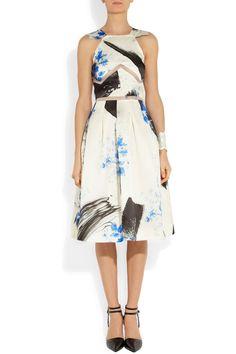 Christopher KanePrinted silk-organza dress