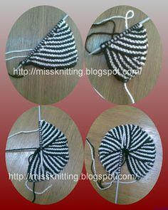 Miss Knitting: Pinwheel-Modular knit