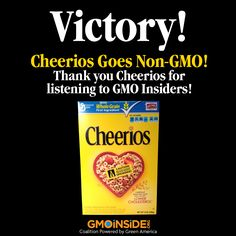 VICTORY! Cheerios Goes Non-GMO! Learn More Here: http://gmoinside.org/cheerios-go-non-gmo
