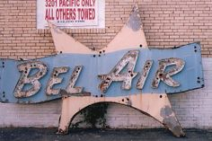 Bel Air Motel vintage neon sign - Wildwood Crest NJ.  This sign was in place from 1968-2003.