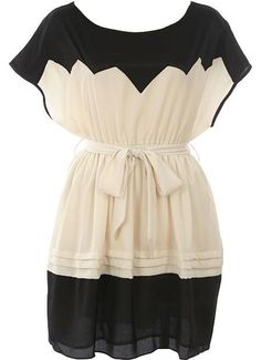 Belted Zig-Zag Dress