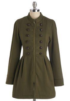 Plush My Buttons Coat | Mod Retro Vintage Coats | ModCloth.com