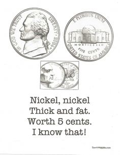 7 FREE Coin Poster Poems. The rhymes help students learn to identify coins.