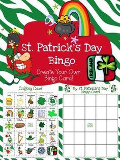 Freebie..St. Patrick's Day Bingo
