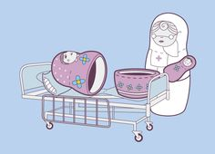 how baby matryoshka's are born - LOL this is on a T-shirt at Etsy
