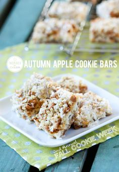 Autumn Apple Cookie Bars // Fall Cookie Week Bonus Cookie: Pumpkin Chocolate Palmiers | Inspired by Charm