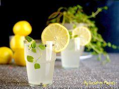 Lemon juice, mint and peppercorns. Gooooood for you!