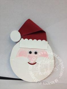Stampin Up! Santa Christmas Gift Card