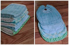 Bibs and burp cloths... baby stuff looks seriously easy to make!