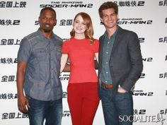 Emma Stone And Andrew Garfield Take Their Couple Cuteness To Beijing For 'The Amazing Spider-Man 2'