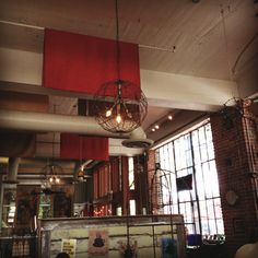 Love the light fixtures! (from The Red Cat in Birmingham, AL)
