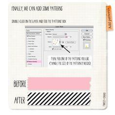 make your own digital washi tape