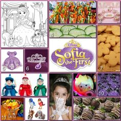 Sofia The First Premiere Tea Party  Disney Donna Kay: Disney Party Boards