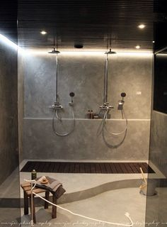 Love this open shower.