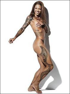 Natasha Kai. A great soccer player and athlete. She has 55+ tattoos.