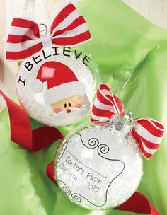 "Mud Pie ""I Believe"" Santa Christmas Ornament"