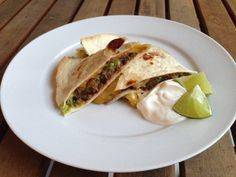 Black Bean & Avocado Quesadilla by The Home Cook