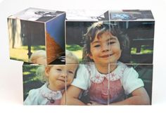 Gift Ideas for Dad #8: Wooden Photo Cubes {like those from Shutterfly!}