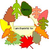 A wreath with what you're grateful for on each leaf...playgroup craft?