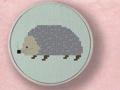 hedgehog cross stitch pattern.