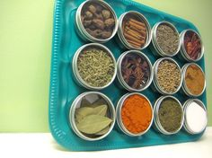 Magnetic spice rack/ sewing organization.