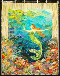 The Mermaid by Bette Murray.  First place, art/innovative, 2013 Boise Basin Quilters Guild show.