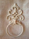 Shabby chic towel rack towel hook towel hanger by kitnkaboodlehome, $15.00
