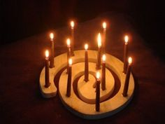 Winter ~ Advent ~ Wooden Tabletop Spiral