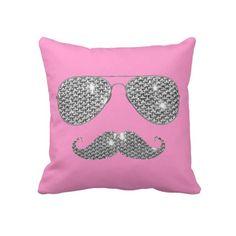 Cute. Shades & Moustache pillow