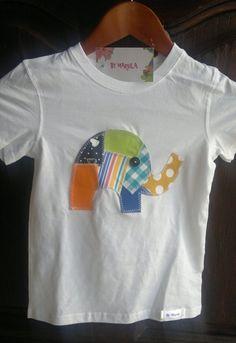 Camiseta patchwork elefantito / MARULA - Artesanio