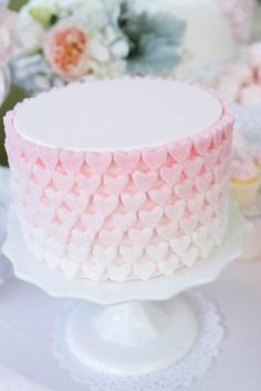 Pretty ombre heart cake.