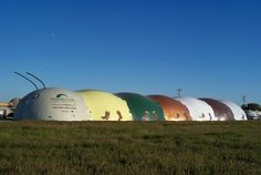 Bruco, The Texas Italian Caterpillar (Monolithic's Airform Manufacturing Facility)