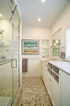 Amagansett Beach Retreat - traditional - bathroom - new york - Kitchens & Baths, Linda Burkhardt