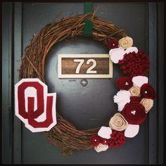 ou wreath, ou sooners wreath