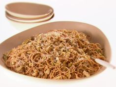 Whole Grain Spaghetti with Brussels Sprouts and Mushrooms (GDL)