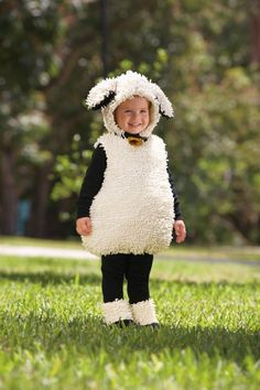 Count This Sheep - This little lamb will surely make the children laugh and play with its white-as-snow fleece and -- gasp! -- belled collar (love!). Just remember that black leggings and shirt are sold separately. ($39 at Chasing Fireflies)